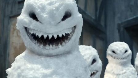 小男孩堆雪人,可怕的是它们竟会说话,还让男孩成为其帮凶