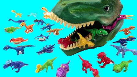 打开恐龙头套拆恐龙蛋认识小恐龙