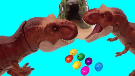 霸王龙帮助受伤的恐龙组装完整