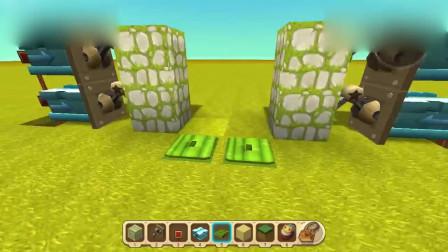 迷你世界:遇到怪物怎么办?现在教你制作隔离门隔离怪物!