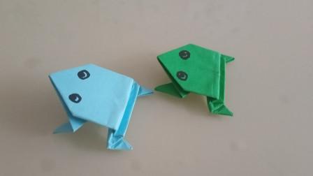 会跳的折纸小青蛙,简单易学,小朋友们都喜欢