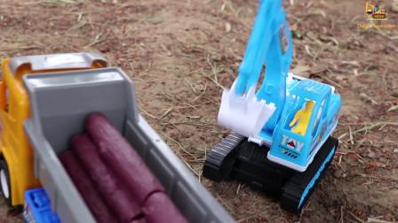施工车辆玩具拆箱挖掘机轮式装载机自卸汽车水泥车