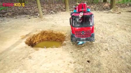 组装玩具卡车3挖掘机警车儿童玩具
