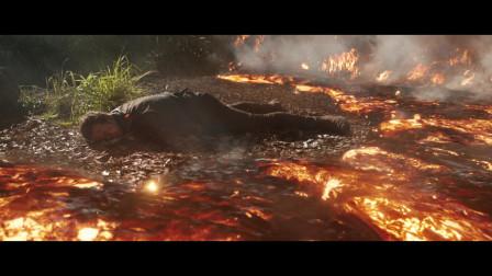侏罗纪世界2:星爵加油啊!岩浆马上就要将星爵吞噬