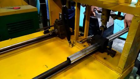 异型管花管冲孔机操作步骤调试现场视频