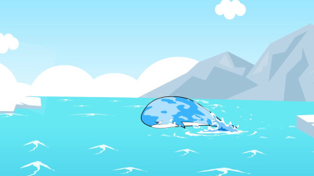 儿童故事——海豚飞上蓝天和太阳互换身体,天上真好!