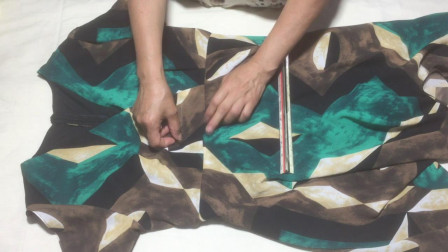 连衣裙有点瘦了,中间剪了包边改成半身裙