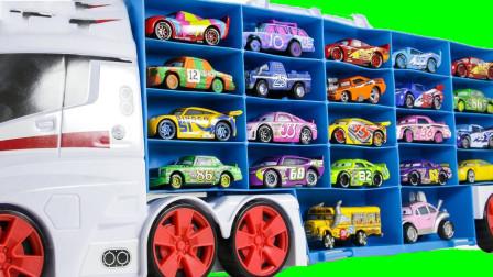 把小汽车从大卡车上拿下来学英语认识颜色