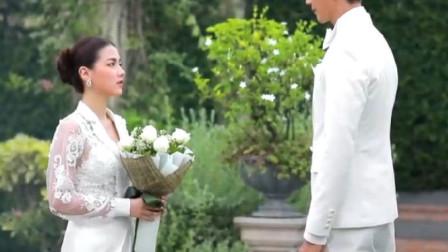吹落的树叶:小水和姑父结婚了,一身白色婚纱,犹如仙女,美爆了