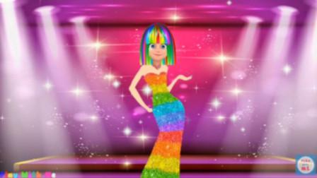玛丽娜当模特! 试穿了好多衣服!瓢虫雷迪游戏