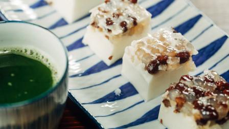 凉快!浓郁的椰汁蜜豆西米糕