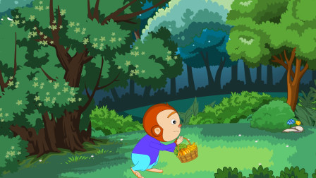 儿童故事 小猴到人类市场的买菜风波