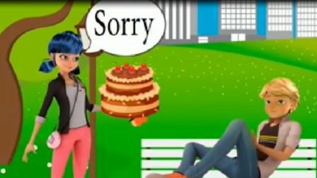 艾俊生气啦~玛丽娜买最贵的蛋糕来哄艾俊~瓢虫雷迪游戏