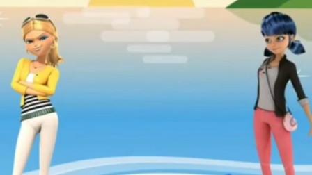海滩游玩,玛丽娜和蔻依一起制作沙滩城堡!瓢虫雷迪游戏