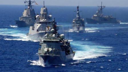 100艘战舰海面对峙 美国看不下去插手 却被警告:早晚赶走你!