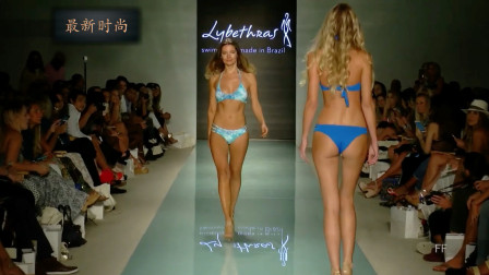 Luli 迈阿密泳装周走秀精彩时刻,蓝色的经典设计,永不过时
