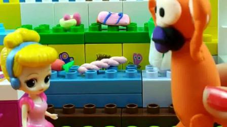少儿益智亲子玩具:这个大猴子要干嘛?吓坏了公主?