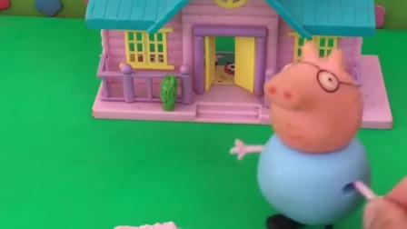 少儿益智亲子玩具:乔治爬到屋顶上了?乔治真贪玩!