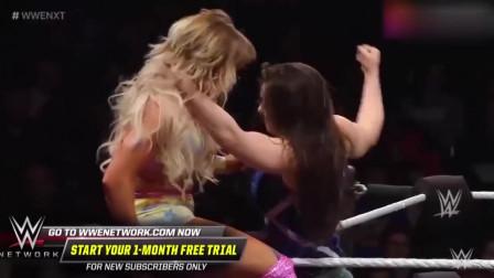 """WWE精彩瞬间:这女人肯定来""""姨妈""""啦?太凶残了!"""