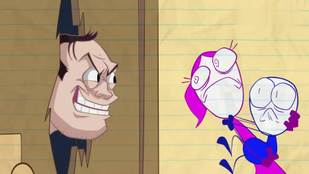 笔绘卡通:在恐惧之屋,铅笔人被吓得不轻!