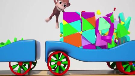 和小猴子一起训练 ,一起学习数字123和颜色