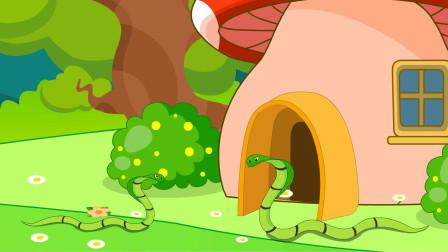 儿童故事 小蛇发现成长的秘密,春天有魔法