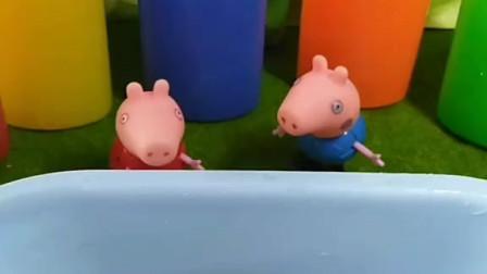 少儿益智亲子玩具:乔治想要吃棒棒糖,佩奇立马给做了几个
