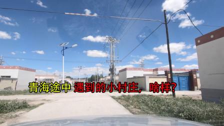 临沂小伙自驾去新疆,青海湖往德令哈途中遇到一小村庄,看看啥样