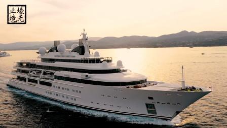 124米长的超级游艇KARATA结束在法国的假期,离开圣特罗佩斯港