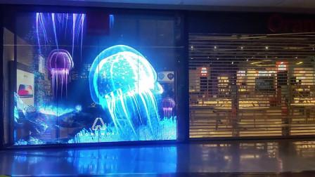 NEXNOVO晶泓科技-法国电信Orange透明LED显示屏项目
