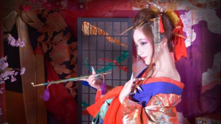 日本花魁变身体验!人生第一次穿上将近20斤重的衣服游街【软软冰】