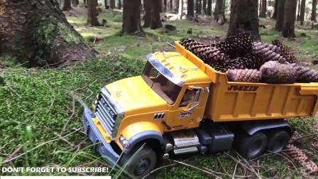 铲雪车清除道路积雪,铲车来帮忙,儿童颜色学习!