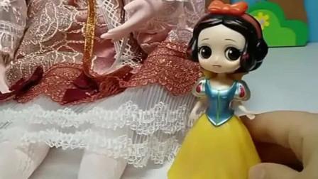 少儿益智亲子玩具:白雪又多了一位好朋友,你们怎么看呢?