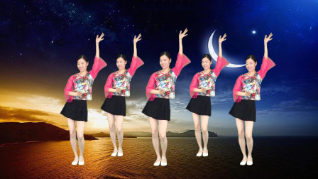 广场舞《朝思暮想》网路情歌24步简单步子舞!