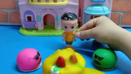 少儿益智亲子玩具:这蛋糕还能吃吗?你们怎么看?