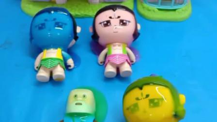 少儿益智亲子玩具:葫芦娃敷面膜,爷爷怎么做