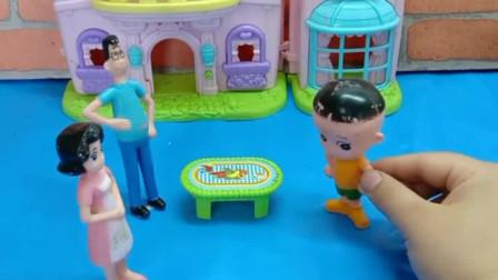 少儿益智亲子玩具:大头考这点分还找借口,该不该打?