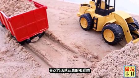 大卡车和挖掘机,优秀的工程车玩具