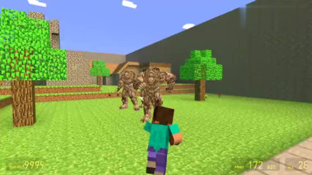 GMOD游戏史蒂夫看见有怪物在迪迦奥特曼面前怎么办