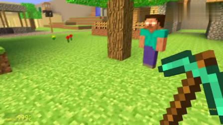GMOD游戏史蒂夫挖矿时被什么袭击了?