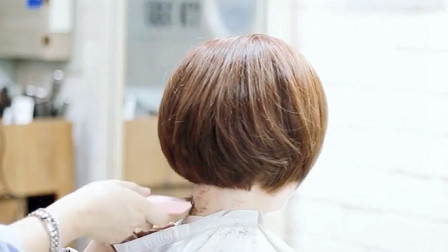 很减龄的BOB短发,染过的就是不一样,精致,时尚,有气质