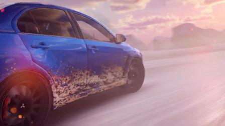 《速度与激情4》H开三菱翼神跨越雪山断崖,在S弯处完美超越战神GTR
