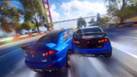《速度与激情6》太刺激了,三菱翼神的横冲直撞,差点撞毁日产GTR