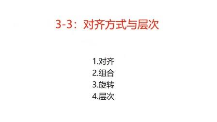 3-3:对齐与层次.wmv