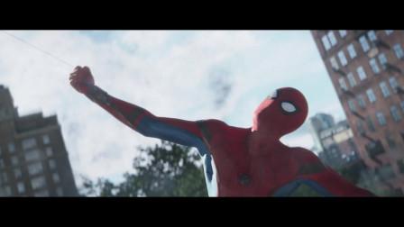 灭霸之一个响指:蜘蛛侠和那个人让飞船吸入舱中,太可怕了