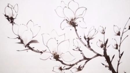 一次看个够 白描花卉这样画,不吹不黑真好看!