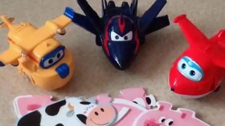 动物拼图,看起来很难的样子,超级飞侠会吗?