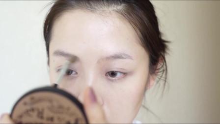 妆容分享:仙气十足  保留个人特点的粉紫色系妆容