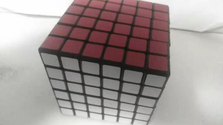 六阶魔方第二步调整前两个侧面的中心块