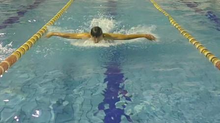 最近忙,没时间拍视频,上课间抽空拍个蝶泳,过段时间拍教学
